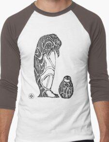 emperor penguin sketch Men's Baseball ¾ T-Shirt