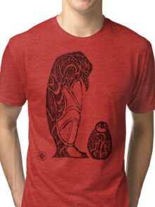 emperor penguin sketch Tri-blend T-Shirt