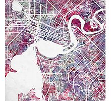 Perth Watercolor Map Photographic Print