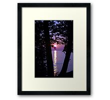 Purple Sunset Framed Print