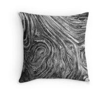 Driftwood Grain Maze Throw Pillow