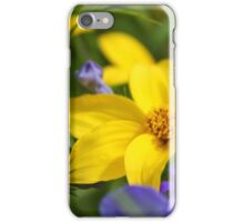 Yellow and Blue Flowers iPhone Case/Skin