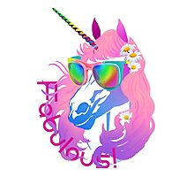 Fabulous Unicorn Princess Photographic Print