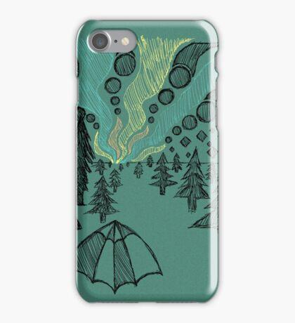 aurora borealis sketch iPhone Case/Skin