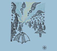 aurora borealis sketch Kids Tee