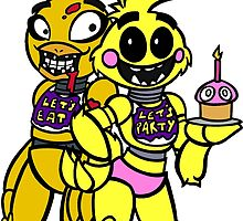 FNAF - Chica and Chica by ScribbleSketch