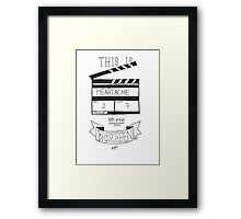 Heartache On The Big Screen Typography Framed Print