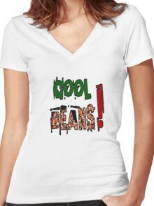 Cool Beans Women's Fitted V-Neck T-Shirt