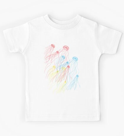 jellyfish sketch Kids Tee