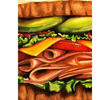Turkey Bacon Avocado Sandwich Photographic Print