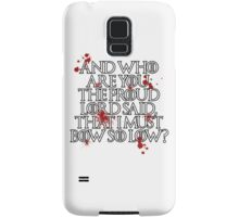 And who are you? (White) Samsung Galaxy Case/Skin