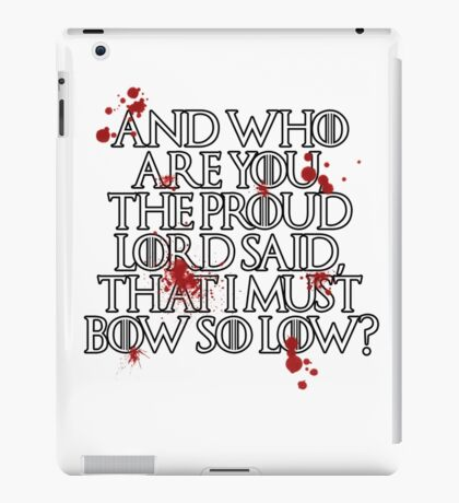 And who are you? (White) iPad Case/Skin