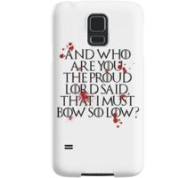 And who are you? (Black) Samsung Galaxy Case/Skin