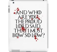 And who are you? (Black) iPad Case/Skin