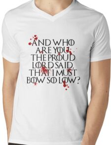 And who are you? (Black) Mens V-Neck T-Shirt