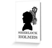 Sherlock Silhouette   Greeting Card