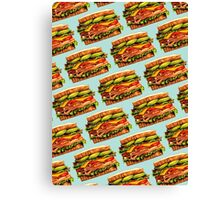 Turkey Bacon Avocado Sandwich Pattern Canvas Print