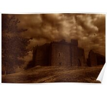 weobley castle sepia Poster