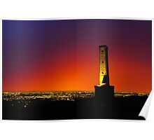Peel Monument at Dusk Poster