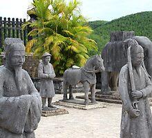 Stone Soldiers II - Hue, Vietnam. by Tiffany Lenoir
