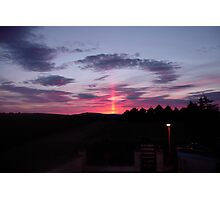 Strange sky over Grainan  Photographic Print
