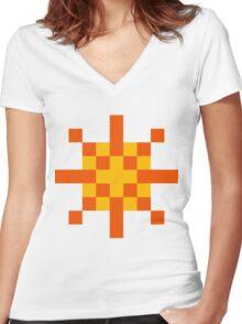 Warrior of Sunlight ultra retro Women's Fitted V-Neck T-Shirt