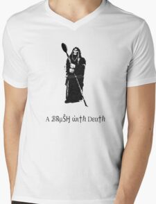 A Brush With Death Mens V-Neck T-Shirt