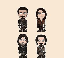 The Musketeers (phone case) by redscharlach