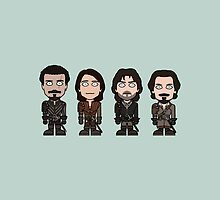 The Musketeers (pillow or bag) by redscharlach