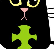 Black cat playing Sticker