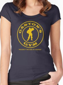 Gaston's Gym - Roughly the Size of a Barge Women's Fitted Scoop T-Shirt
