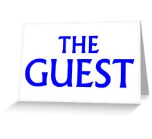 THE GUEST LOGO Design by SmashBam Greeting Card