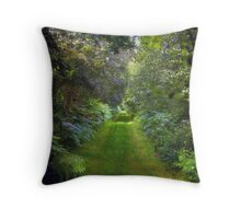 Green Lush English Avenue Throw Pillow