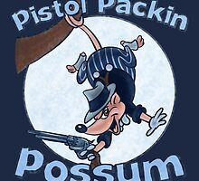Pistol Packin Possum by Ellador