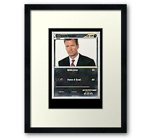 Chris hansen Framed Print