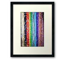 Colourful Bead Bracelets Framed Print