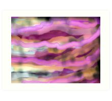 Pink Lines and Waves Art Print