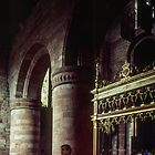 Columns Carlisle Cathedral Cumbria England 198405250020 by Fred Mitchell