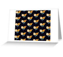 Solar System Heart pattern Greeting Card