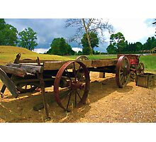 Old Wagon Photographic Print