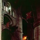 Columns and window Carlisle Cathedral Cumbria England 198405250022  by Fred Mitchell