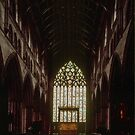 Main east window Carlisle Cathedral Cumbria England 198405250025  by Fred Mitchell