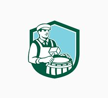 Cooper Barrel Maker Drum Retro Shield Unisex T-Shirt