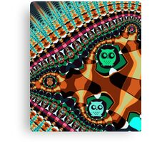 Patterns and Owls Canvas Print