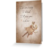 Peter Pan inspired valentine. Greeting Card