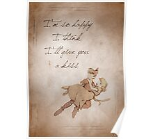 Peter Pan inspired valentine. Poster