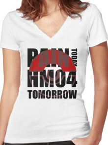 Pain Today... HM04 Tomorrow Women's Fitted V-Neck T-Shirt