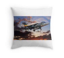 RAF Harrier GR9 Throw Pillow