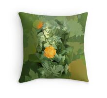 abstract of Welsh Poppies Throw Pillow