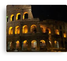 The Colosseum at night Canvas Print